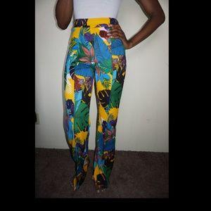 Fashion Nova High-Waisted Tropical Pants NWT